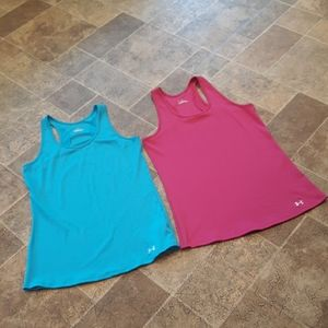 2 Under Armour women's size XL heatgear tank tops